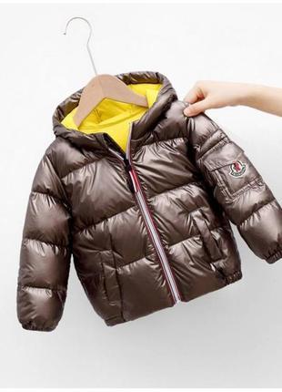 Демісезонна курточка коричнева 4547