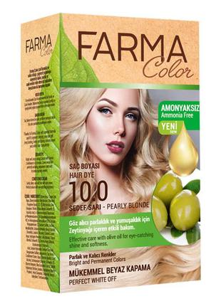 Крем-краска для волос farma color 10.0 перламутровый блонд