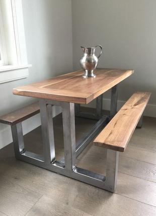 Лавка та стіл лофт, меблі лофт на замовлення, лофт