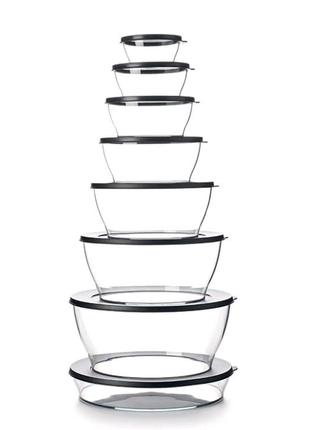 Чаши Кристалл 290мл; 610мл;  990мл;  1.35л; блюдо 2л Tupperware