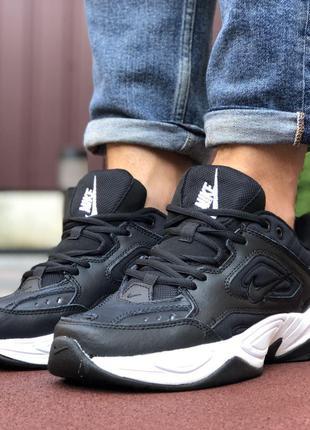 Модные и удобные Nike M2K Tekno (черно/белые)