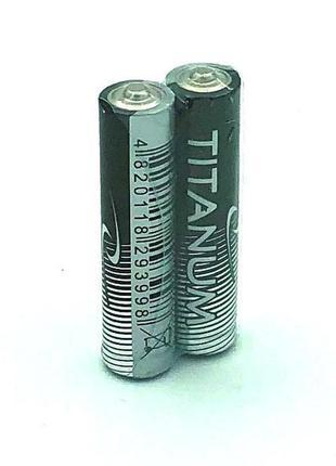 Батарейка щелочная TITANIUM LR03 / AAA (упаковка 2 шт)
