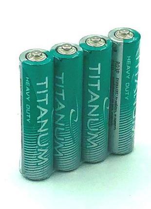 Батарейка солевая TITANIUM R03 / AAA (упаковка 4 шт)