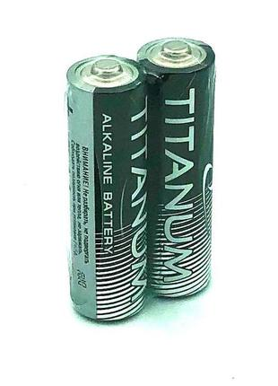 Батарейка щелочная TITANIUM LR6/AA (упаковка 2 шт)