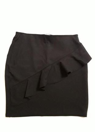 Фирменная эластичная  юбка с воланом