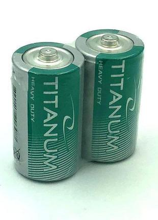 Батарейка солевая Titanum R20/D (упаковка 2 шт)