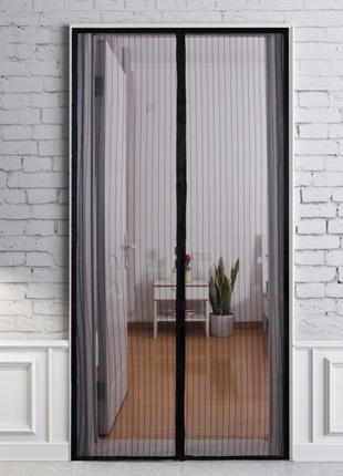 Анти москитная сетка штора на магнитах Magic Mesh 100*210 см