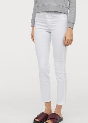 Белые джинсы скини h&m