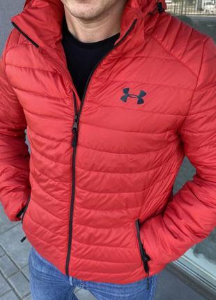 Куртка красная осень-весна