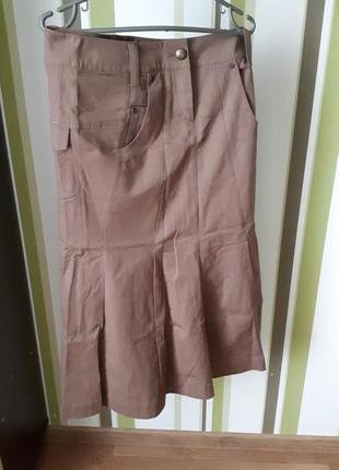 Длинная плотная юбка
