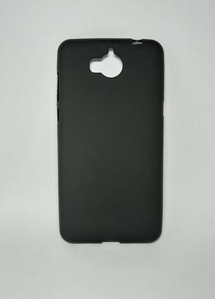 Задня накладка Huawei Y5 2017 cілікон чорний