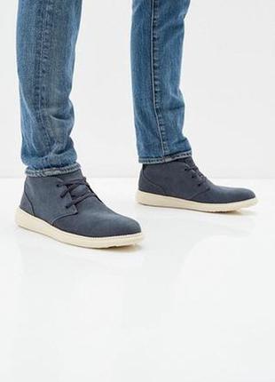 Мужские кожаные ботинки skechers
