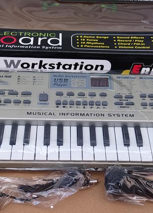 Детский орган синтезатор пианино MQ 816 USB mp3, микрофон, 61 кла