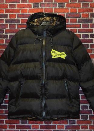 Зимняя куртка off white temperature(black)