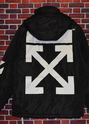 Зимняя куртка off white black