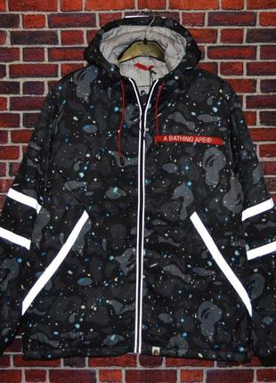 Зимняя куртка bape shark stars