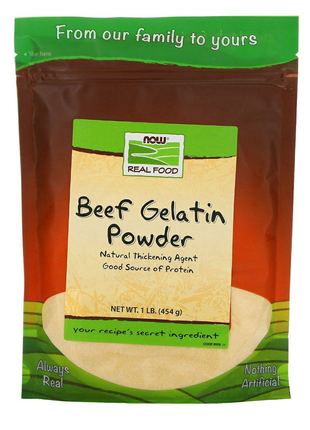 Желатин говяжий/ Real Food, Beef Gelatin Powder, (454 г)