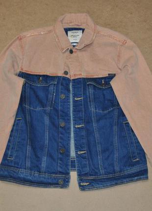 Pull & bear стильная джинсовка куртка джинсовая