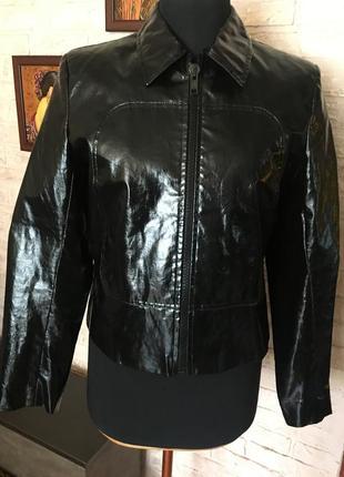 Виниловая, лаковая куртка