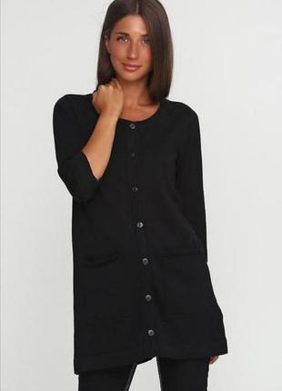 Женский чёрный кардиган с накладными карманами esmara