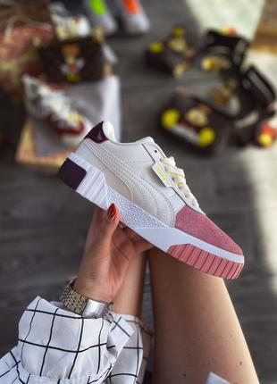 Puma cali white шикарные женские кожаные кроссовки 😍