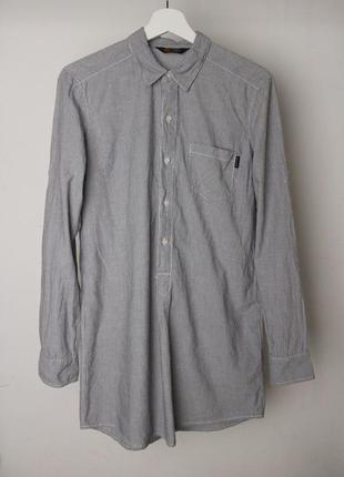 Carhartt платье рубашка хлопок в полоску