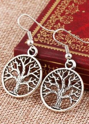 Женские серьги - Дерево жизни