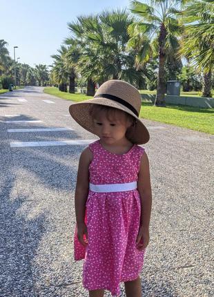 Платье плаття принт фламинго на 1-2 годика