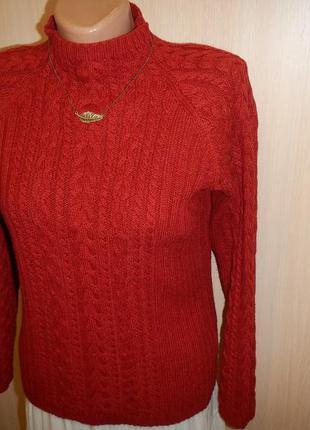 Теплый вязаный свитер atelier p.38  70% шерсть