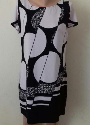 Новое вискозное платье с принтом debenhams