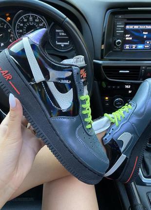 Nike air force 1 'vandalized iridescent' green black
