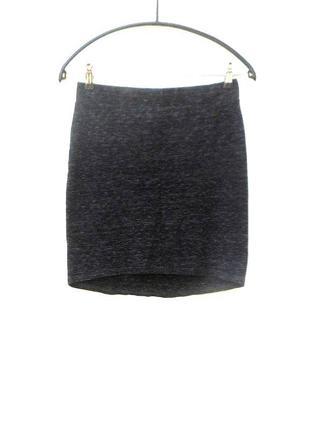 Трикотажная хлопковая  облегающая юбка мини