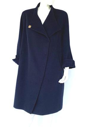 Женское пальто season каталония темно-синее большие размеры