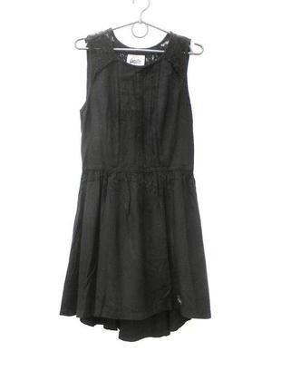 Черное летнее платье сарафан с кружевом