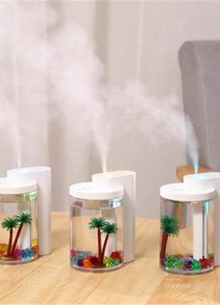Увлажнитель воздуха и ночник (2в1) прозрачная чашка украшение