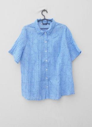 Летняя рубашка блузка с коротким рукавом с воротником