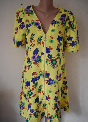 Новое красивое платье с принтом asos