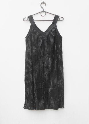 Черное свободное легкое летнее   платье сарафан из хлопка