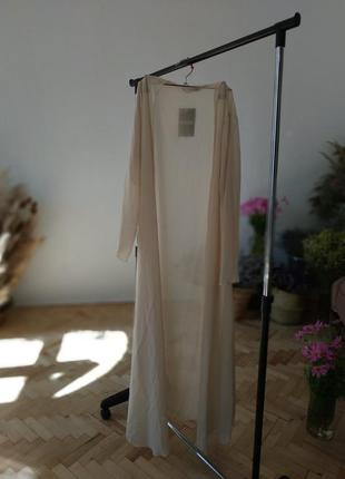 Парео длинное с рукавом бежевое be jealous халат в пол