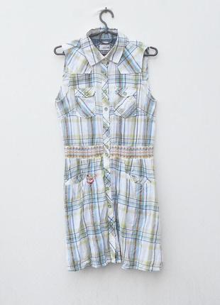 Летнее хлопковое платье рубашка