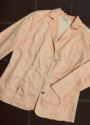 Стрейчевый хлопковый пиджак большого размера
