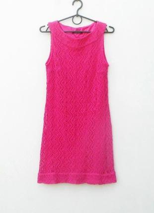 Розовое нарядное коктейльное платье