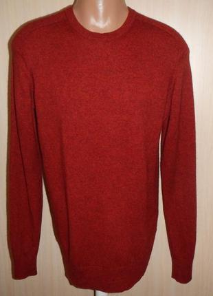 Шерстяной свитер пуловер джемпер muji p.xl 100% шерсть( лана, як)