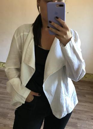Белый льняной пиджак{xl}
