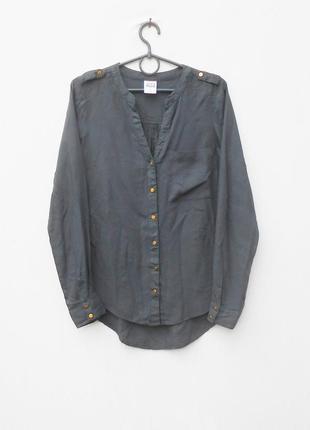 Летняя блузка с длинным рукавом из вискозы
