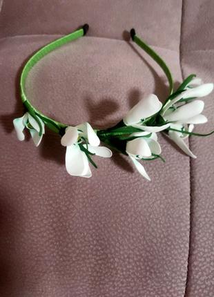 Обручи для волос с весенними цветами