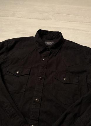 Чорна сорочка pull&bear
