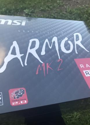 Новая MSI RX 570 8GB ARMOR OC mk2 игровая видеокарта