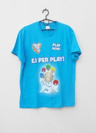 Хлопковая  футболка с надписью с принтом
