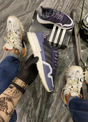 Кроссовки  adidas zx 500 rm violet